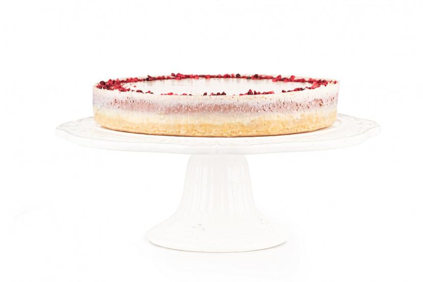 Kokosovo-ríbezľový cheesecake s bielou čokoládou