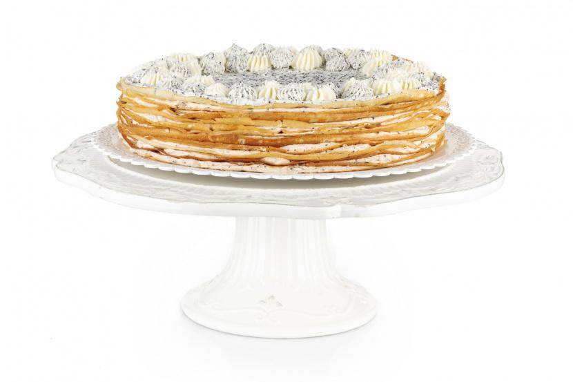 Makovo-šípkový Crêpe Cake