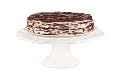 Kakaový Crêpe Cake s mascarpone krémom a čerstvým ovocím - 12-14 porcií