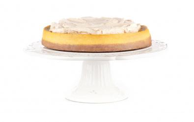 Tekvicový cheesecake s mousse z bielej čokolády