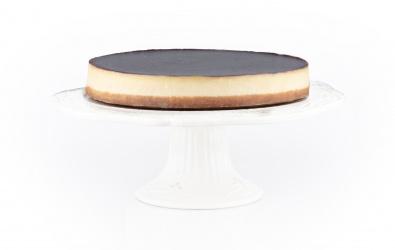 Vanilkový cheesecake s ovocným pyré