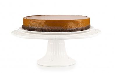 Čokoládovo-marakujový cheesecake s marakujovým pyré