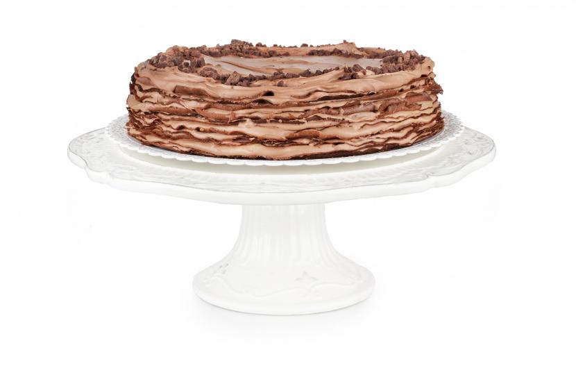 Čokoládovo-ríbezľový Crêpe Cake