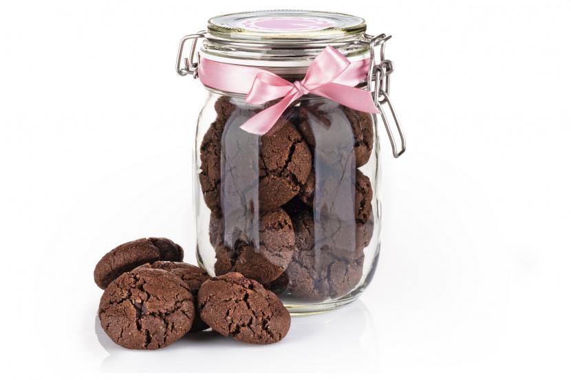 Extra-čokoládové cookies v skle