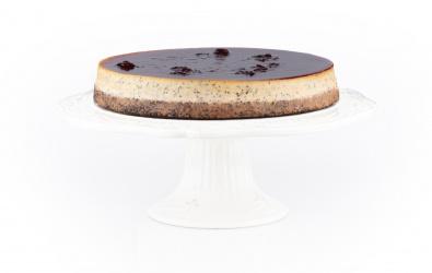 Makový cheesecake s višňovým pyré