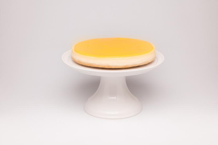 Citrónový cheesecake s lemon curdom - mini kocky