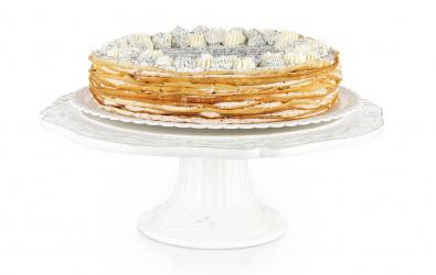 Makovo-šípkový Crêpe Cake - vianočný špeciál