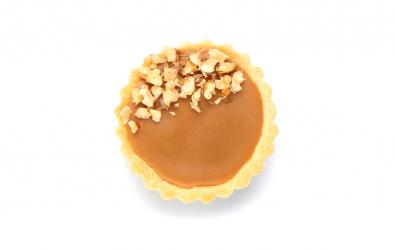 Čokoládovo-karamelové tartaletky s karamelizovanými orechami