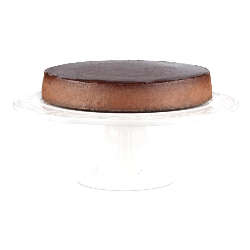 Čokoládovo-slivkový cheesecake so štipkou škorice - mini kocky
